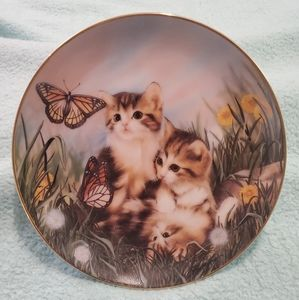Collectors Plate Franklin Mint Chasing Butterlies